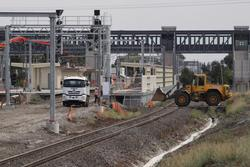 Laverton Rail Upgrade project: Ballast tweaking at the up end