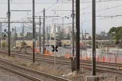 Laverton Rail Upgrade project: Looking up Laverton Loop towards Altona