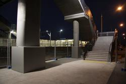 Laverton Rail Upgrade project: Stairs to the concourse from the southern side of the track