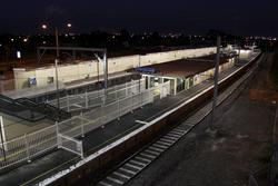 Laverton Rail Upgrade project: Overview of the platforms looking north-east