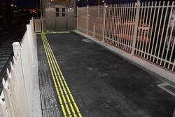 Laverton Rail Upgrade project: Measure twice, cut once - relocated tactile paving after the platform needed to be narrowed