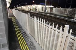 Laverton Rail Upgrade project: The narrow gap links the main bit of platform 1 and the lift well behind