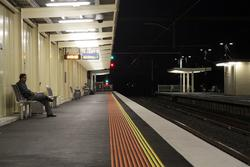 Laverton Rail Upgrade project: Looking up platform 1 towards Melbourne