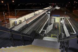 Laverton Rail Upgrade project: Down the stairs to platform 2/3