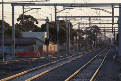 Laverton Rail Upgrade project: East line now slewed to the new alignment, down end points in place for the future Altona track