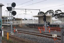 New signals yet to be commissioned at the up end of platform 3