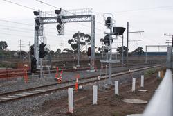 Signals at the up end of platforms 1/2/3