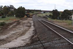 Trackbed taking shape west from Anakie Road