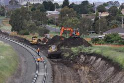 Work between the Geelong Ring Road and Anakie Road