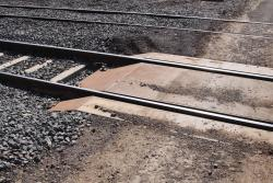 Steel plate used as a level crossing filler