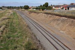 New rail in place between Anakie Road and the Geelong Ring Road