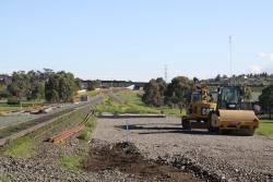 Work on the new track still to be completed over Anakie Road