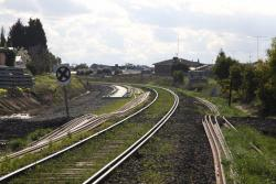 Looking down the line at the current end of double track at Furner Avenue, North Geelong C