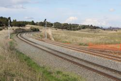 New double track at Evans Road, Moorabool
