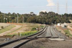 End of the new double track at Moorabool, looking up the line