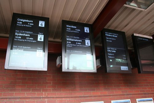 New LCD next train displays