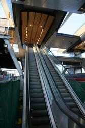 Escalator from platforms 4/5 now out in the open