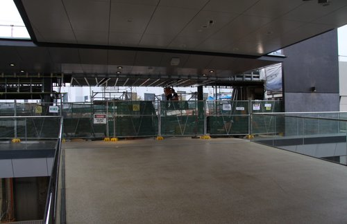 New concourse open for interchange, station building still being worked on