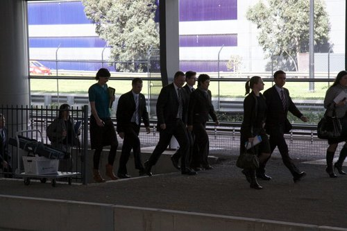 Pollies emerge from the subway