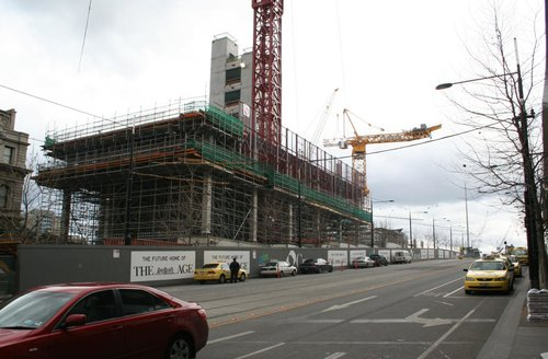 Work continues on the eastern side
