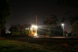 2007 Geelong line night trackwork