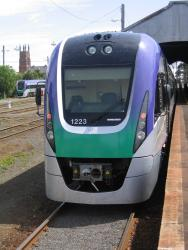 Geelong line VLocity launch: VL23 at Geelong