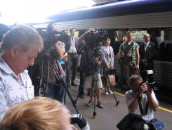 Geelong line VLocity launch: The assembled media circus