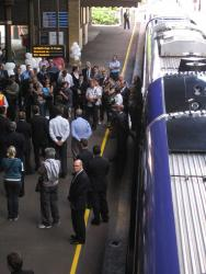 Geelong line VLocity launch: Onlookers, hangers-on, and the media circus