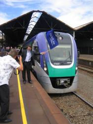 Geelong line VLocity launch: A photo op for the local press