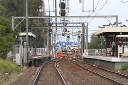 Werribee Street level crossing removal project: Looking down the line from Cherry Street towards the future bridge