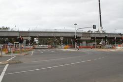 Werribee Street level crossing removal project: Boom gates come down at the temporary standard gauge level crossing