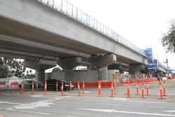 Werribee Street level crossing removal project: Three single track bridges make up the grade separation project
