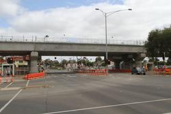 Werribee Street level crossing removal project: Three single track bridges in place across Werribee Street