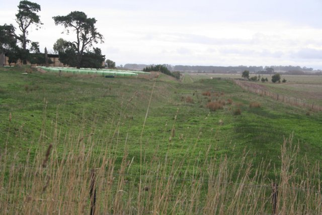 Part of the old Forrest line, looking towards the Barwon River floodplains and Birregurra