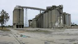 Cement Works: Panorama of the cement silos from the south-west