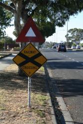 Approach to the Ballarat Road level crossing