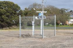 Weather station located opposite the level crossing equipment