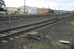 Pointwork to nowhere in the SG line at North Geelong 'C'
