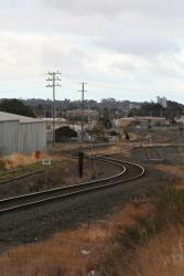 Gauge splitter at the down end of North Geelong Yard