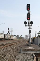 Signal 72/30 for down standard gauge trains departing North Geelong C