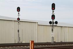 Signals 72/42 and 72/40 for up trains approaching North Geelong C