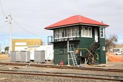 Signal box at North Geelong C now decommissioned