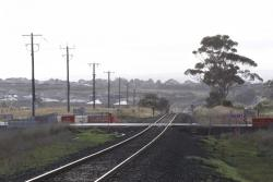 New level crossing yet to be commissioned, for the Anglesea Road deviation