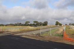 Looking west towards the original Anglesea Road level crossing from the new one