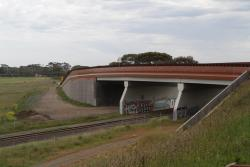 Complete road overpass at Anglesea Road, looking south