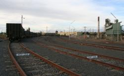 Four sidings beside the plant