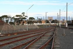 Sidings merge together at the down end