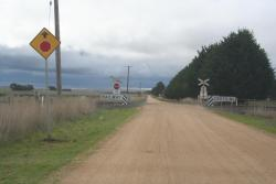 Aireys' Reserve Road level crossing, near Warncoort
