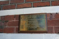 Plaque marking 1986 refurbishment