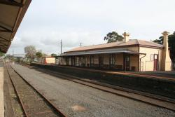 Station building from across the yard
